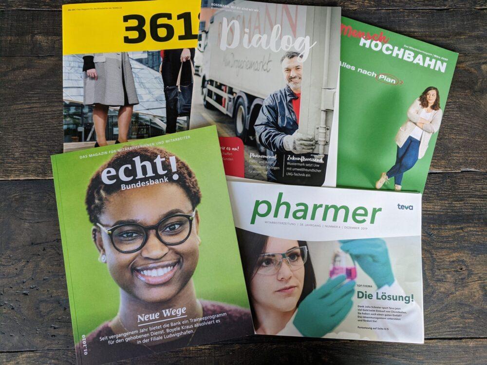 Die fünf Cover der Gewinnerausgaben
